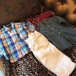 Ralph Lauren 18 mo lot polo button downs & pants
